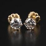 14K 0.99 CTW Diamond Stud Earrings