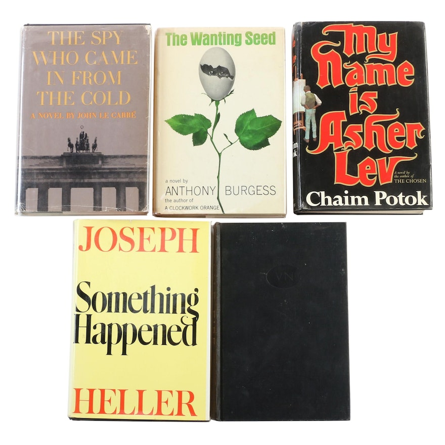 """Signed Early Printing """"Something Happened"""" by Joseph Heller with Other Novels"""