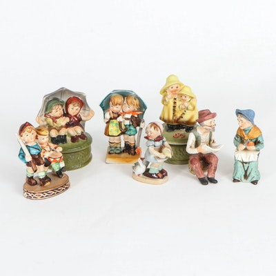 Made in Occupied Japan Porcelain Figurines, Music Boxes, and Other Figurines