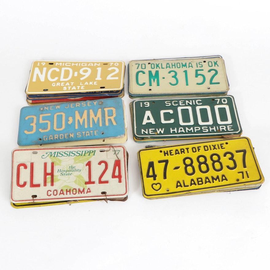United States License Plates, 1970s