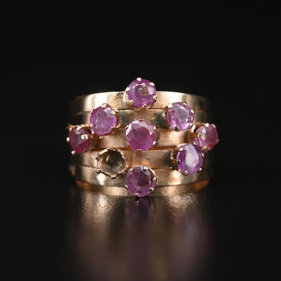 14K Ruby Stacked Ring