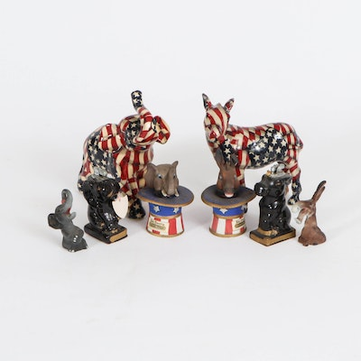 Ski Country Miniature Decanters, Japanese Lighters and Other Political Figurines