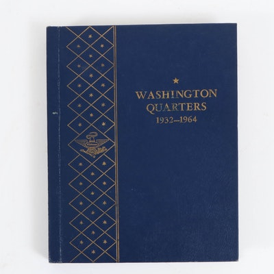 Complete Washington Silver Quarters Collection in Whitman Album, 1932–1964