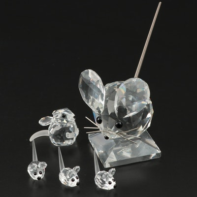 Swarovski Crystal Mice Figurines
