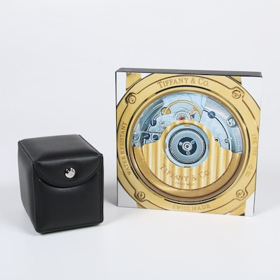 """""""Tiffany Timepieces"""" by Loring with Tiffany & Co. """"Acorn"""" Roto Box Watch Winder"""