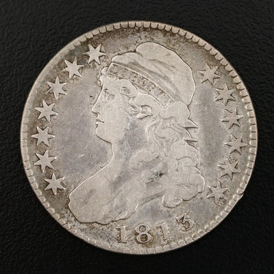 1813 Capped Bust Silver Half Dollar