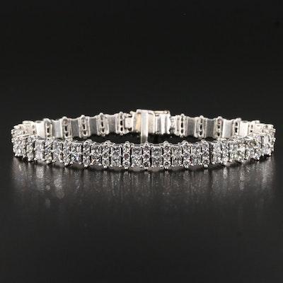 Platinum 12.00 CTW Line Bracelet