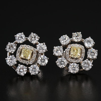 14K 3.76 CTW Diamond Earrings