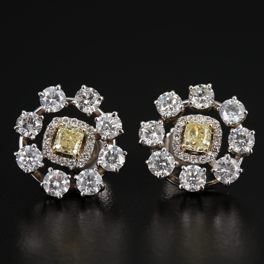 14K 3.76 CTW Diamond Earrings