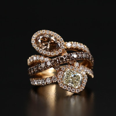 18K 4.27 CTW Diamond Ring
