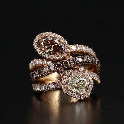 18K 4.27 CTW Diamond Ring