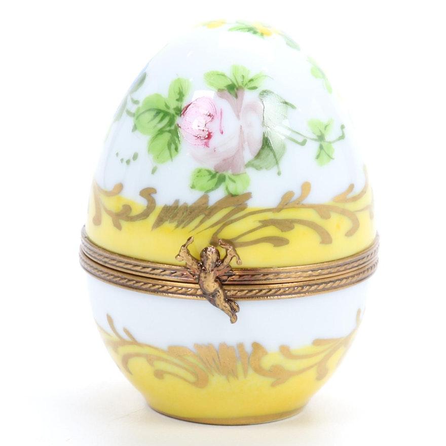 La Gloriette Hand-Painted Porcelain Egg Limoges Box