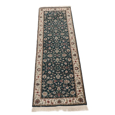 2'7 x 8'7 Hand-Knotted Indo-Persian Heriz Rug Runner