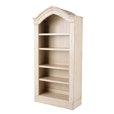 Romweber Paint-Decorated Arched Top Display Bookcase
