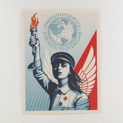 "Offset Lithograph Poster after Shepard Fairey ""Angel of Hope & Strength"", 2020"