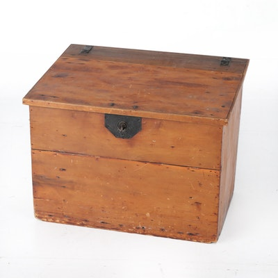 Cherry Slant Top Desk Box, Late 19th Century