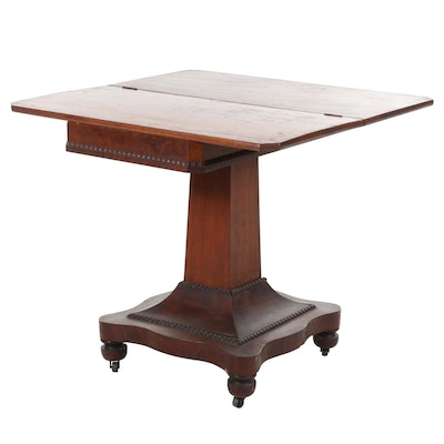 American Empire Mahogany Card Table, Mid-19th Century