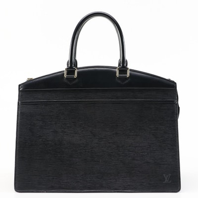 Louis Vuitton Riviera Tote in Black Epi Leather