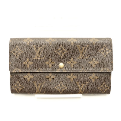 Louis Vuitton Long Flap Wallet in Monogram Canvas