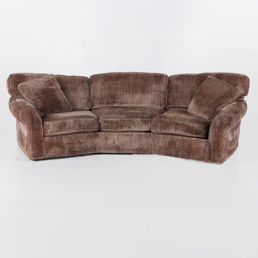 Rolled Arm Upholstered Sofa, Late 20th Century