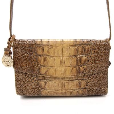 Brahmin Crossbody Bag in Crocodile Embossed Leather
