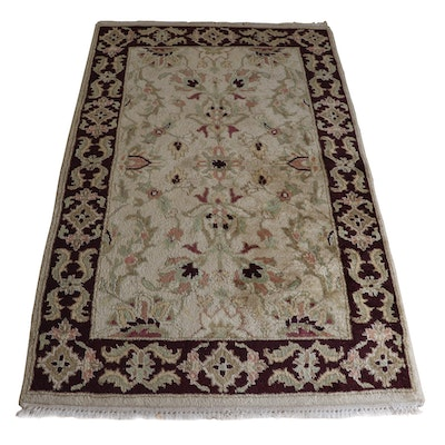 3'0 x 5'1.5 Hand-Knotted Indo-Persian Style Wool Rug