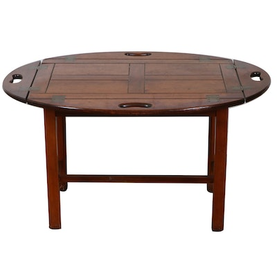 Mahogany Stained Butler's Tray Coffee Table, Late 20th Century