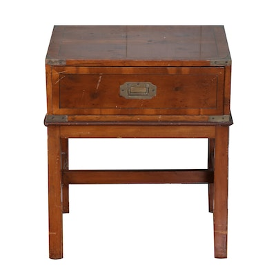 Campaign Style Side Table, Mid to Late 20th Century