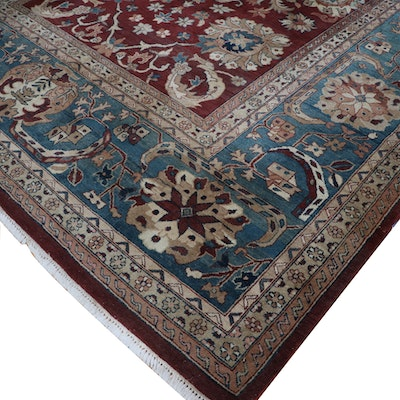9'1 x 12'6 Hand-Knotted Persian Style Wool Rug