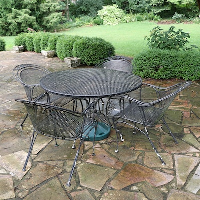 Metal Patio Dining Table and Chairs