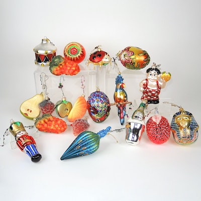 Frisch's Big Boy, Sugared Fruit and Other Blown Glass Ornaments