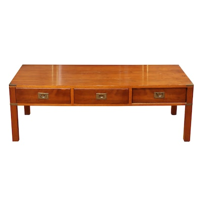 Campaign Style  Coffee Table, Mid to Late 20th Century