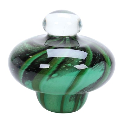 Robert Eickholt Handblown Art Glass Paperweight, 2011
