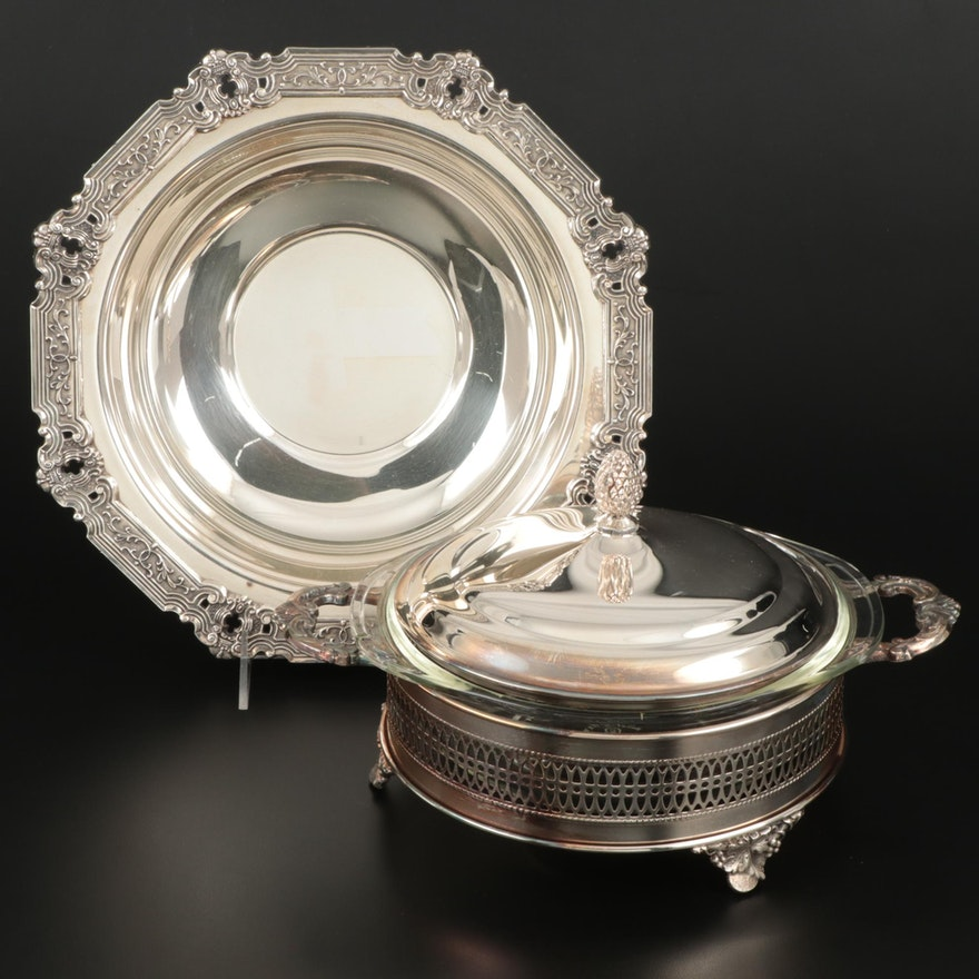 Gorham and The Sheffield Silver Co Silverplate Serving Pieces, Mid-20th C.