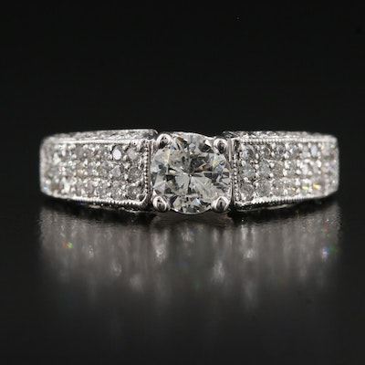14K 0.96 CTW Diamond Ring