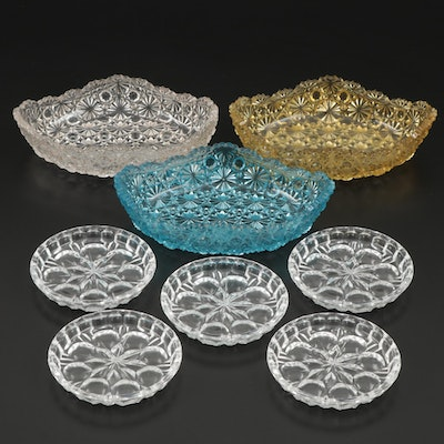 "EAPG ""Daisy and Button Nut Bowls and Pressed Coasters, Early to Mid-20th Century"