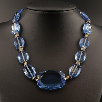 Vintage Czech Glass Bead Necklace