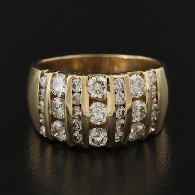 14K 1.95 CTW Diamond Channel Ring