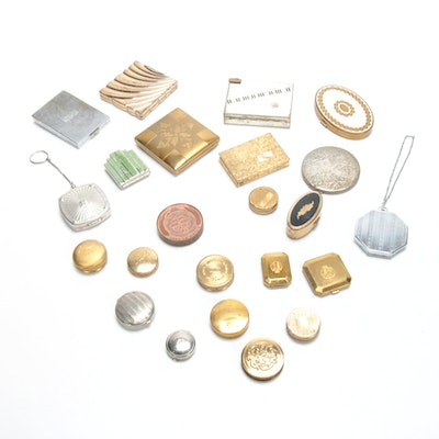 Makeup Compacts Including Musical Lipstick Case, 1920s-1960s
