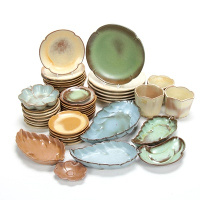 "Frankoma ""Plainsman"" Art Pottery Dinnerware and Planters, Mid-20th Century"