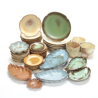 "Frankoma ""Plainsman"" Art Pottery Dinnerware and Planters, Mid-20th Century"