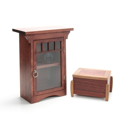 Art Deco Style Table Curio and Wooden Keepsake Box