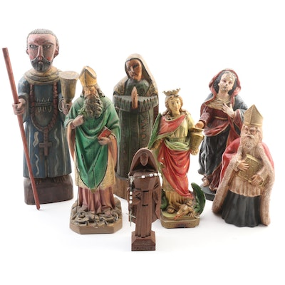 St. Martha, St. Patrick and Other Devotional Figurines, Early to Mid-20th C.