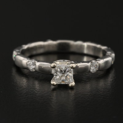 Platinum Diamond Ring with 14K Mount