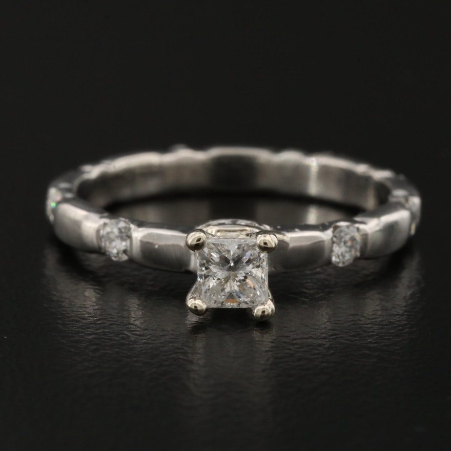 Platinum Diamond Ring with 14K Mount