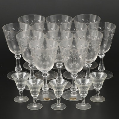 "Cambridge ""Laurel Wreath"" Glass Goblets and Cordials, 1940–1958"