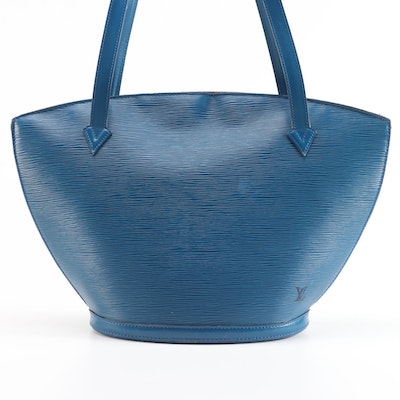 Louis Vuitton Saint-Jacques Bag in Toledo Blue Epi Leather