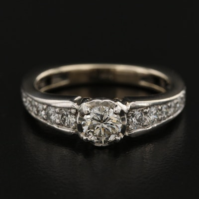 18K 1.10 CTW Diamond European Shank Ring