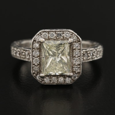 Platinum 1.86 CTW Diamond Ring