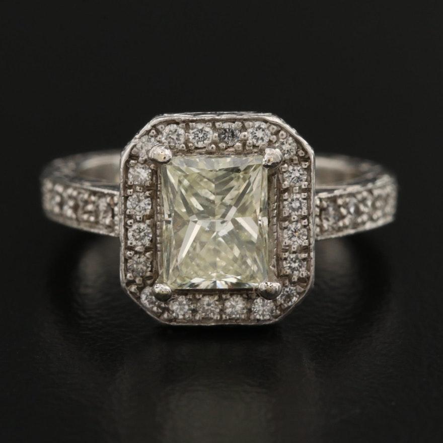 Platinum 1.86 CTW Diamond Ring